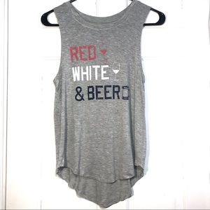 Grayson threads | red white and beer tank